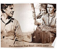 The American Dust Bowl Montage Poster
