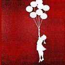 Banksy the balloon girls - iPhone 5, iphone 4 4s, iPhone 3Gs, iPod Touch 4g case by www. pointsalestore.com