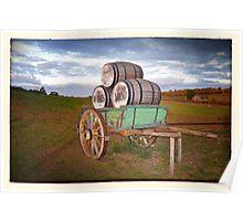 Cart & Wine Barrels 1 Poster