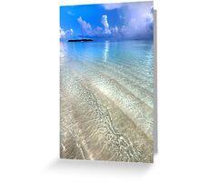 Crystal Water of the Ocean Greeting Card