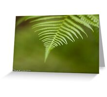 The color Green. Greeting Card