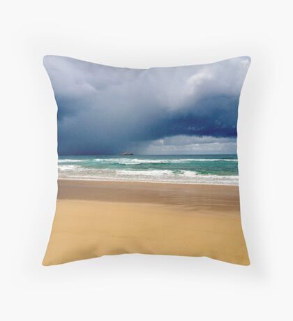 Stormy weather on Smokey Cape Beach, NSW Throw Pillow