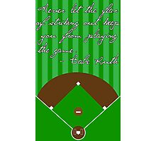 Fear of Striking Out Photographic Print