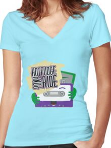 Hot Fudge Pony Ride Women's Fitted V-Neck T-Shirt