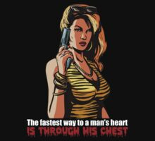 The fastest way to a man's heart is through his chest by revnandi