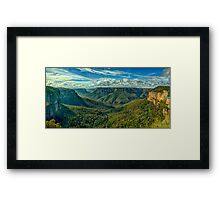 Majesty - Govetts Leap, Blackheath NSW, Blue Mountains World Heritage Area - The HDR Experience Framed Print
