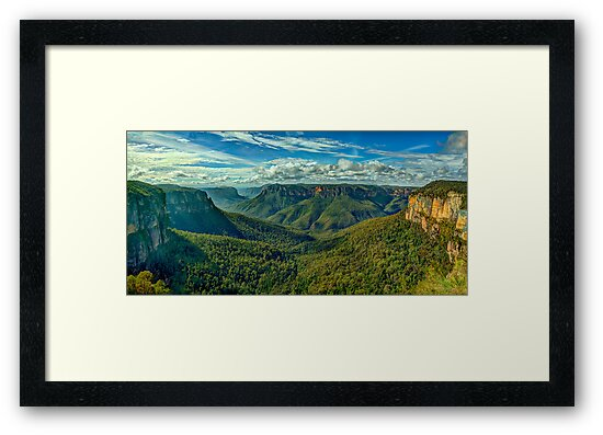 Majesty - Govetts Leap, Blackheath NSW, Blue Mountains World Heritage Area - The HDR Experience by Philip Johnson