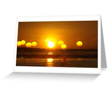 African Sunset #5 Greeting Card