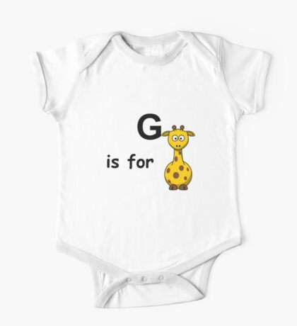 G is for ... One Piece - Short Sleeve