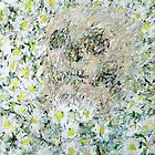 SKULL AMONG DAISIES by lautir
