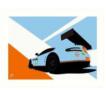 Aston Martin Gulf 2014 WEC Car Art Print