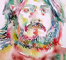 JOHN BONHAM - watercolor portrait by lautir
