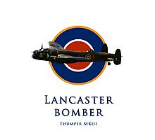 Lancaster bomber logo Photographic Print