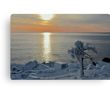 Sunrise After Snow and Ice Canvas Print
