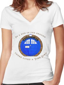 Dr Hobbit Women's Fitted V-Neck T-Shirt