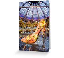 Shoe Galeries Lafayette, Paris Greeting Card