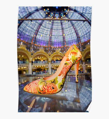 Shoe Galeries Lafayette, Paris Poster