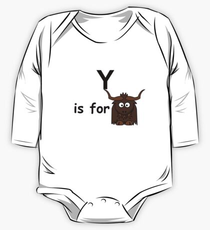 Y is for ... One Piece - Long Sleeve