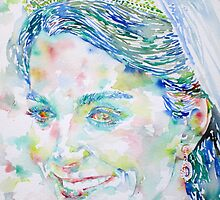 KATE MIDDLETON - watercolor portrait.1 by lautir