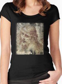 christ by leonard Women's Fitted Scoop T-Shirt
