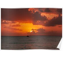Pre-eclipse Sunrise - Port Douglas Poster