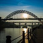 Sunny bridges over the Tyne by Bob Noble