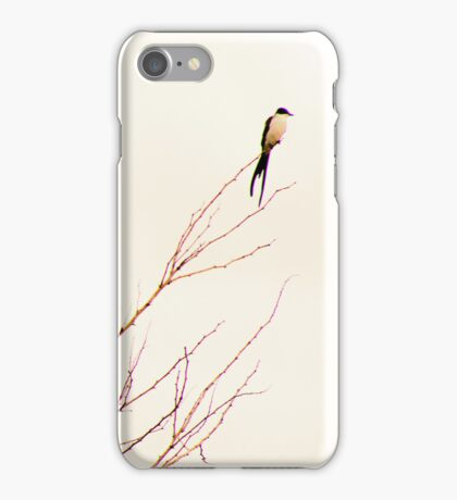 Swallows on the wires iPhone Case/Skin