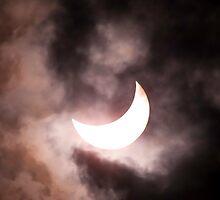 Crescent Sun beyond the Clouds by Richard Heath