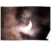 Crescent Sun beyond the Clouds Poster