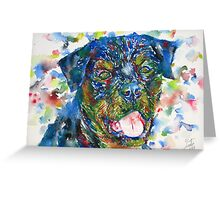 ROTTWEILER - watercolor portrait Greeting Card