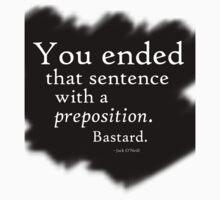 Preposition White on Black 2 by CaelisMiran