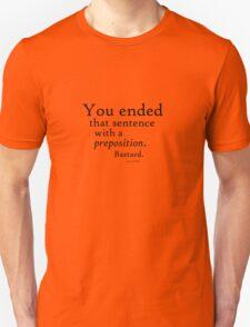 Preposition Black T-Shirt