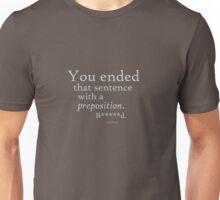 Preposition Grey (clean) Unisex T-Shirt