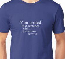 Prepostion White (clean) Unisex T-Shirt
