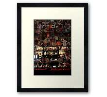 The Harp - Bar & Beer Mats Framed Print