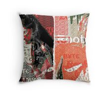Incarnata Diptych #1 Throw Pillow