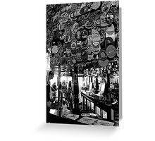 The Harp - Bar & Beer Mats 2 Greeting Card
