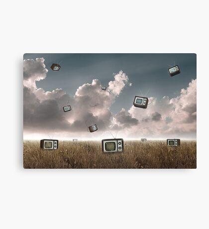 Television falling Canvas Print