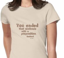 Preposition Brown 2 Womens Fitted T-Shirt