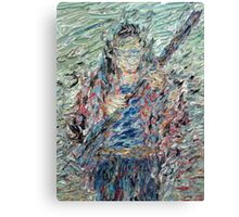 FIGURE WITH RIFLE Canvas Print