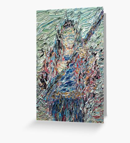 FIGURE WITH RIFLE Greeting Card