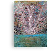 WHITE TREE OVER THE WATER Canvas Print