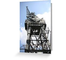 Victoria Dock Old Crane Greeting Card