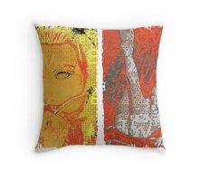 Incarnata Diptych #3 Throw Pillow