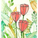 Three Popular Pink Tulips by Caileigh Speck