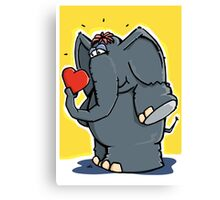 The elephant is in love Canvas Print