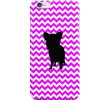 Perfectly Pink Chevron With Yorkie Silhouette iPhone Case/Skin
