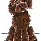 Chocolate Labradoodle by offleashart