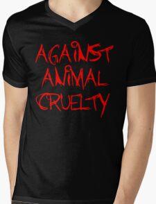 Against Animal Cruelty Mens V-Neck T-Shirt