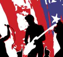 America Rocks Sticker